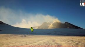 Snowkite sull'Etna