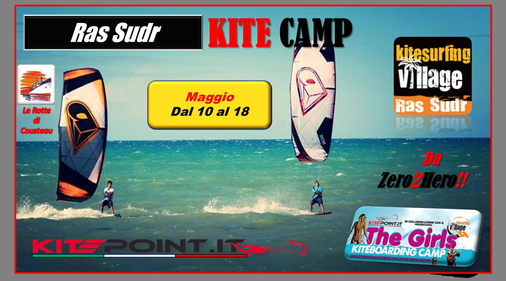 RAS SUDR KITE CAMP ... Zero2Hero!! Dal 10 al 18 maggio