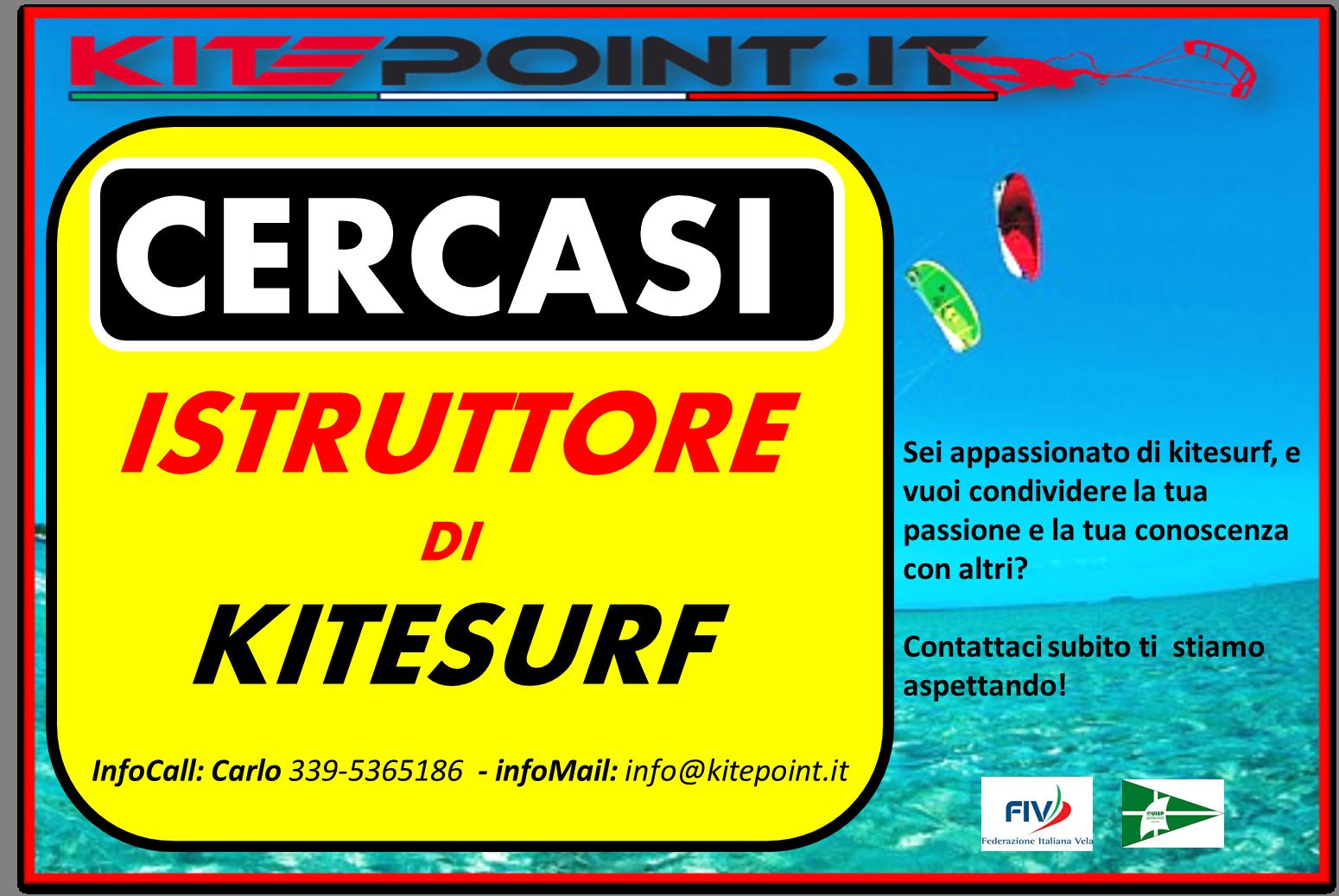 cercasi istruttore di kitesurf latina roma anzio