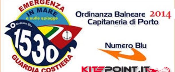 KITEPOINT ANZIO – SICUREZZA IN MARE E ORDINANZA BALNEARE 2014