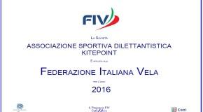 KITEPOINT asd è FIV anche per il 2016