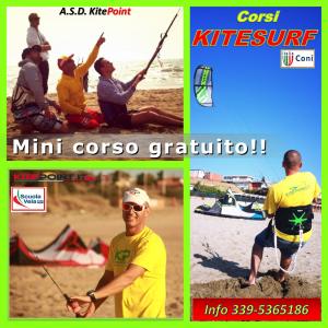 mini corso di kitesurf gratuito lezioni prova corso kite roma anzio latina